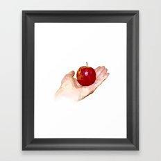 Geometric Apple in Hand Framed Art Print