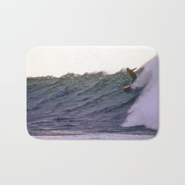 George Greenough Rides Rincon Point Bath Mat