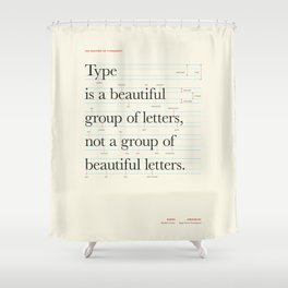 Typography Anatomy Shower Curtain