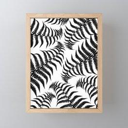 Fern Leaves Pattern - Black Dream #1 #ornamental #decor #art #society6 Framed Mini Art Print