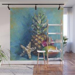 Tropical Dreams: Pineapple Painting Wall Mural