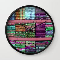 fabric Wall Clocks featuring FABRIC by Louisa Rogers