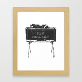 Claymore 'Front Toward Enemy' Framed Art Print