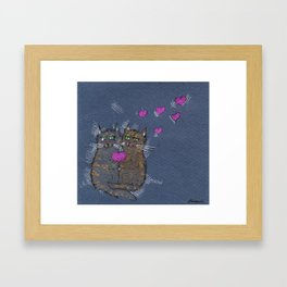 Love Cats Framed Art Print