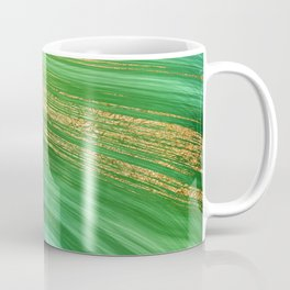 Green Mermaid Glamour Marble With Gold Veins Coffee Mug