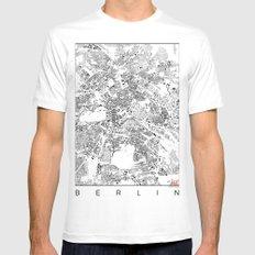 Berlin Map Schwarzplan Only Buildings MEDIUM Mens Fitted Tee White