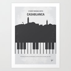 No192 My Casablanca minimal movie poster Art Print