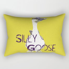 """""""Silly Goose"""" ~ African Goose, Geese Pop Art Photography! Gotta Love the Honkers!  Rectangular Pillow"""