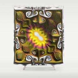Gnarly Sunflower Shower Curtain