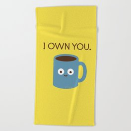 Coffee Talk Beach Towel