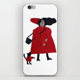 Red jacket iPhone Skin