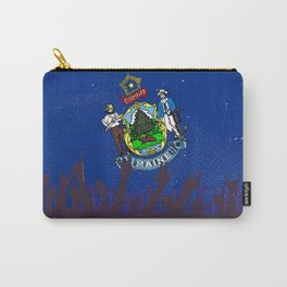 Maine State Flag with Audience Carry-All Pouch