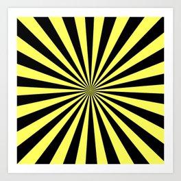 Starburst (Black & Yellow Pattern) Art Print