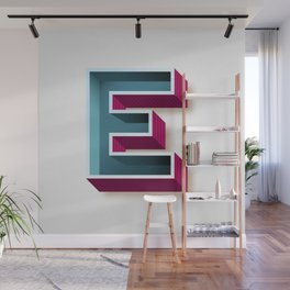 The Letter E Wall Mural
