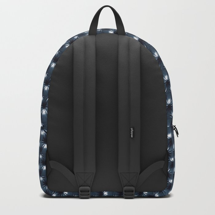 Faux Midnight Leather Buttoned Backpack