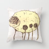 spider Throw Pillows featuring Spider by Of Lions And Lambs