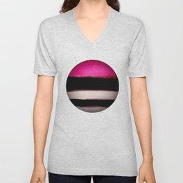pink&black Unisex V-Neck