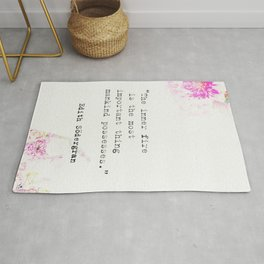 """""""The inner fire is the most important thing mankind possesses.""""  Edith Södergran quote Rug"""