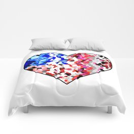 American Heart - Geometric Abstract Comforters