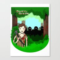 daryl dixon Canvas Prints featuring Daryl Dixon by Dan Solo Galleries