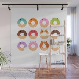 Happy Doughnuts Wall Mural