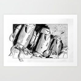 Alien Trouble Art Print