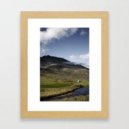 Hraun, Öxnadalur, Iceland Framed Art Print