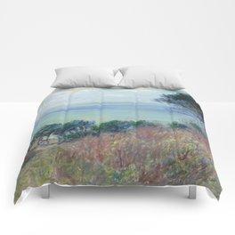 "Claude Monet ""La côte de Varengeville (The coast of Varengeville)"" Comforters"