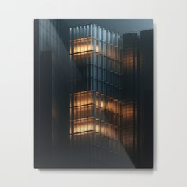 Curved Toughened Glass Metal Print