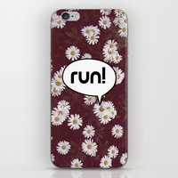 run iPhone & iPod Skins featuring run by Mimy