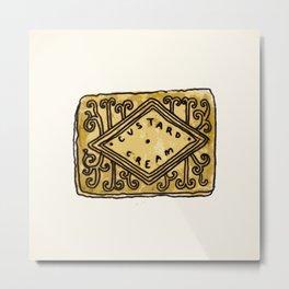 custard cream Metal Print