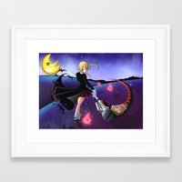 soul eater Framed Art Prints featuring Soul Eater by Psyconorikan