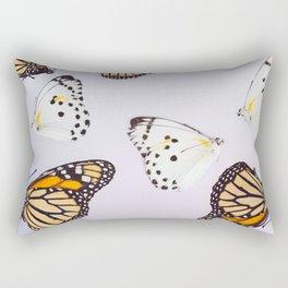 Graphic Pastel Butterflies Rectangular Pillow