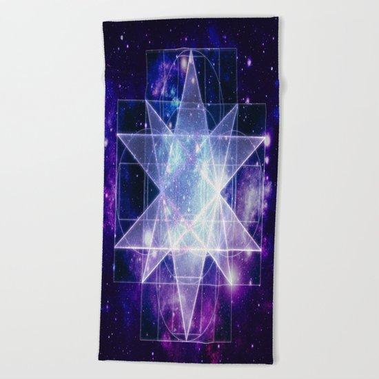 Galaxy Sacred Geoemetry Beach Towel