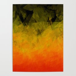 Sunset Abstract Facets Poster