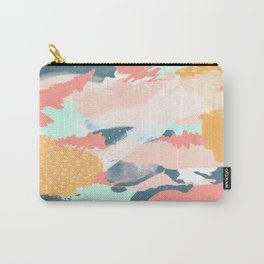 Painted Pattern Carry-All Pouch