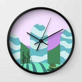 Turtle kawai Wall Clock