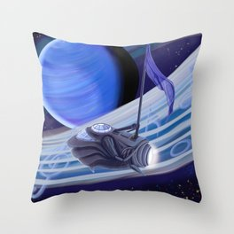 Through Space and Sound Throw Pillow