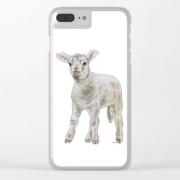 Quizzical lamb Clear iPhone Case