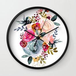 Autumn Rose Wall Clock