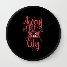 Away From The City - Village Nature Wall Clock
