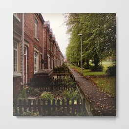 HOUSE ROW. Metal Print