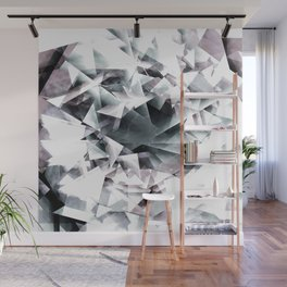 Modern Black and White Diamond Abstract Geometric Wall Mural