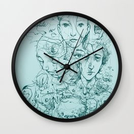 Elliott Chocolate Wormwood Wall Clock