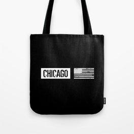 U.S. Flag: Chicago Tote Bag