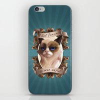 grumpy iPhone & iPod Skins featuring Grumpy by TsaoShin