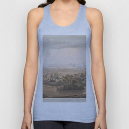 Vintage Cairo Egypt & Giza Pyramids Illustation Unisex Tank Top
