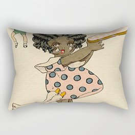 Vintage Girl and Geese Rectangular Pillow
