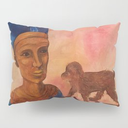 Nefertiti Toy Painting with Monkey Pillow Sham