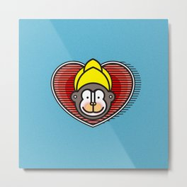Indian Monkey God Icon Metal Print